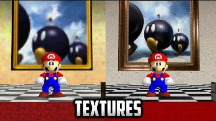"""vidéo : Super Mario 64 PC : Mod textures """"réalistes"""""""