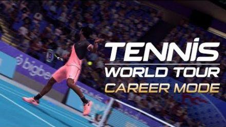 Vidéo : Tennis World Tour détaille son mode Carrière