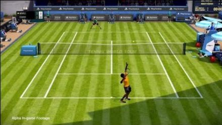 PSX 2017 : Gameplay Tennis World Tour