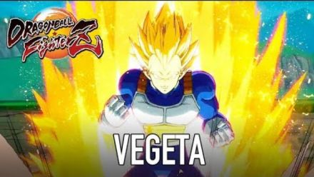 Dragon Ball Fighterz : Vegeta en lumière