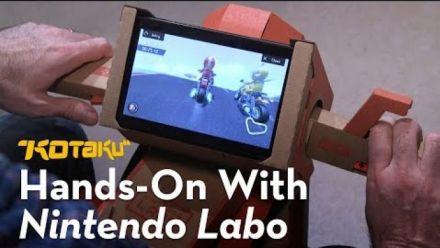 Vid�o : Nintendo Labo : Kit Robot : Découverte de Kotaku
