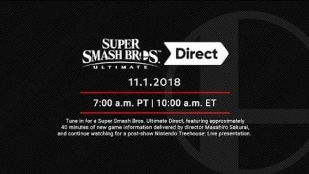 Vidéo : Super Smash Bros Ultimate Direct 1er nov 2018