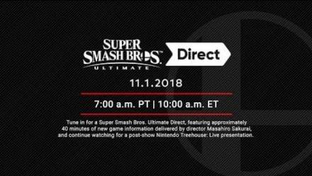 Super Smash Bros Ultimate Direct 1er nov 2018