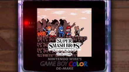 """Super Smash Bros. Ultimate : Trailer """"World of Light"""" version Game Boy Color"""