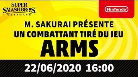 Super Smash Bros. Ultimate - M. Sakurai présente un combattant tiré du jeu ARMS
