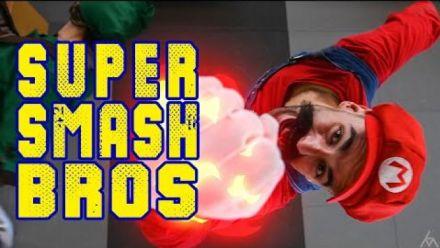 Des cascadeurs recréent un combat de Super Smash Bros.