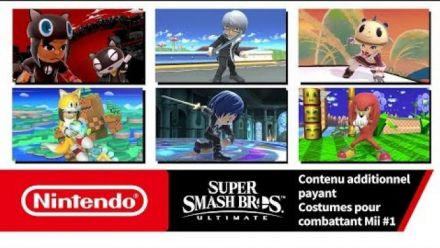 vidéo : Super Smash Bros. Ultimate - Costumes pour combattant Mii #1 (Nintendo Switch)