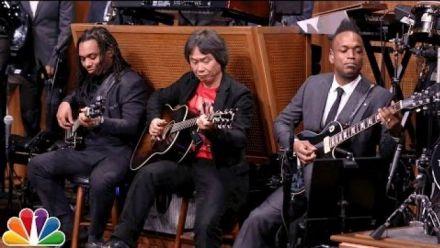 Vid�o : Shigeru Miyamoto joue le thème de Super Mario Bros. chez Jimmy Fallon