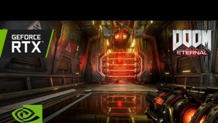 Vid�o : DOOM Eternal   Official GeForce RTX 3080 Ti 4K Ray Tracing Gameplay - World Premiere