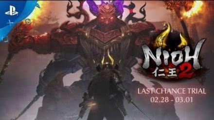 Vid�o : Nioh 2 - Last Chance Trial Teaser