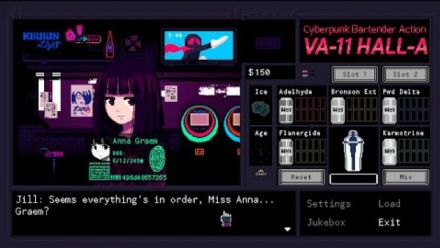 Vidéo : Cyberpunk Bartender Action: VA-11 Hall-A Final Trailer