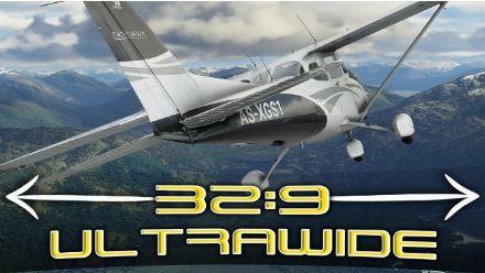 vid�o : Microsoft Flight Simulator - Gameplay : Vol Rome-Naples ULTRAWIDE 32:9