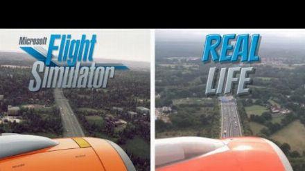 Vid�o : (Chaine) Microsoft Flight Simulator (FS2020) vs Real Life | Landing in Gatwick UK