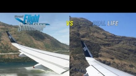 Vid�o : (Chaine) MSFS VS REAL LIFE | A320neo Landing at Queenstown, New Zealand