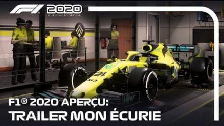 vid�o : F1 2020 Aperçu Trailer Mon Écurie (FR)