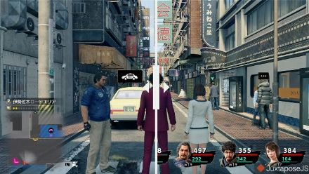 Yakuza Like a Dragon : Comparatif PS4 Pro - Xbox Series X