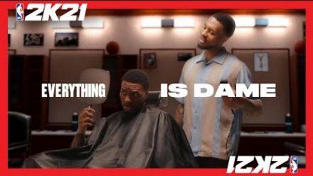 Damian Lillard athlète sur les jaquettes des versions NBA 2K21 actuelles