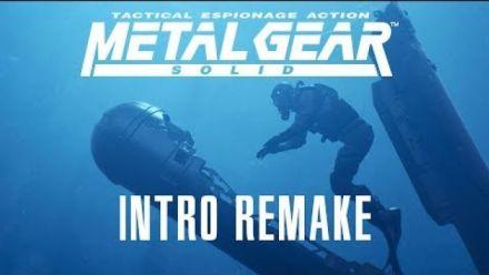 Vidéo : Metal Gear Solid : Le remake 4K de l'intro par des fans