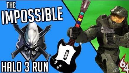 Vid�o : I beat Halo 3 Legendary with a GUITAR HERO CONTROLLER (vidéo de Super Louis 64)
