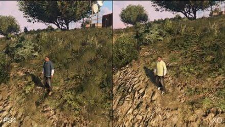 GTA 5 - Comparatif de la végétation