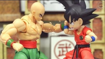 Vidéo : Dragon Ball : Tenshinhan vs Goku en Stop Motion