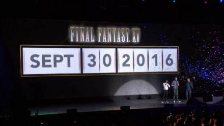 Final Fantasy XV annonce sa date de sortie