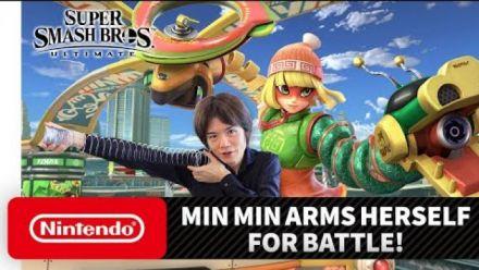 "Vidéo : Super Smash Bros. Ultimate - Mr. Sakurai Presents ""Min Min"""