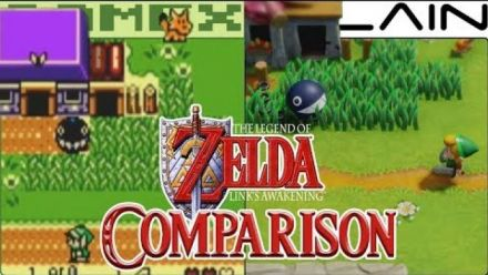 Vidéo : Links Awakening : Comparatif de GameXplain