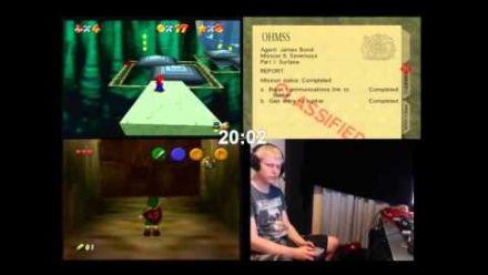 Vid�o : Zelda : Ocarina of Time, Super Mario 64 et Goldeneye 007 en moins d'une heure