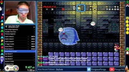Vid�o : Super Mario World Blindfolded in 23:14