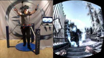 Skyrim avec le Cyberith Virtualizer