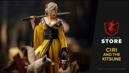 Vid�o : The Witcher : Ciri and the Kitsune Figure
