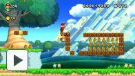 Vid�o : New Super Mario Bros. U - Plaine du grand chêne-1 - Arrivée sans toucher le sol (Wii U)
