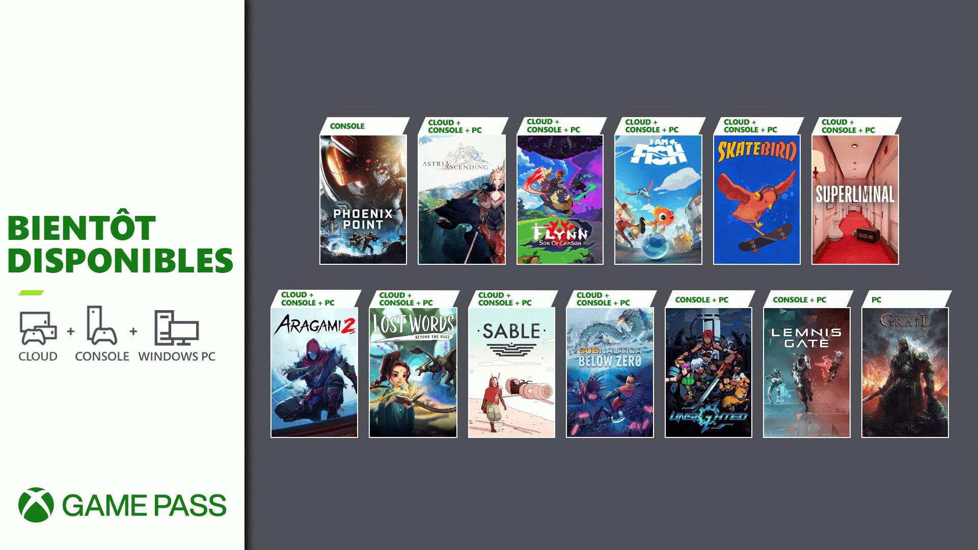 Xbox Game Pass : 13 nouveau jeux, dont Sable, pour la fin septembre 2021