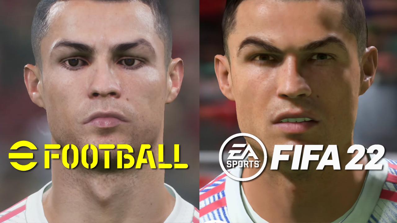 L'image du jour : FIFA 22 vs eFootball 2022 (PES), Messi massacré, le comparatif graphique