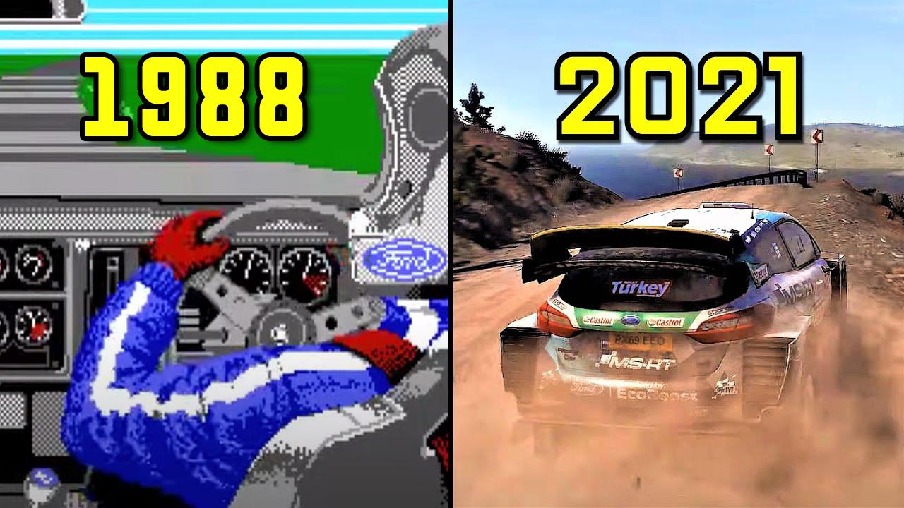 L'image du jour : L'évolution graphique des jeux de rallye en vidéo