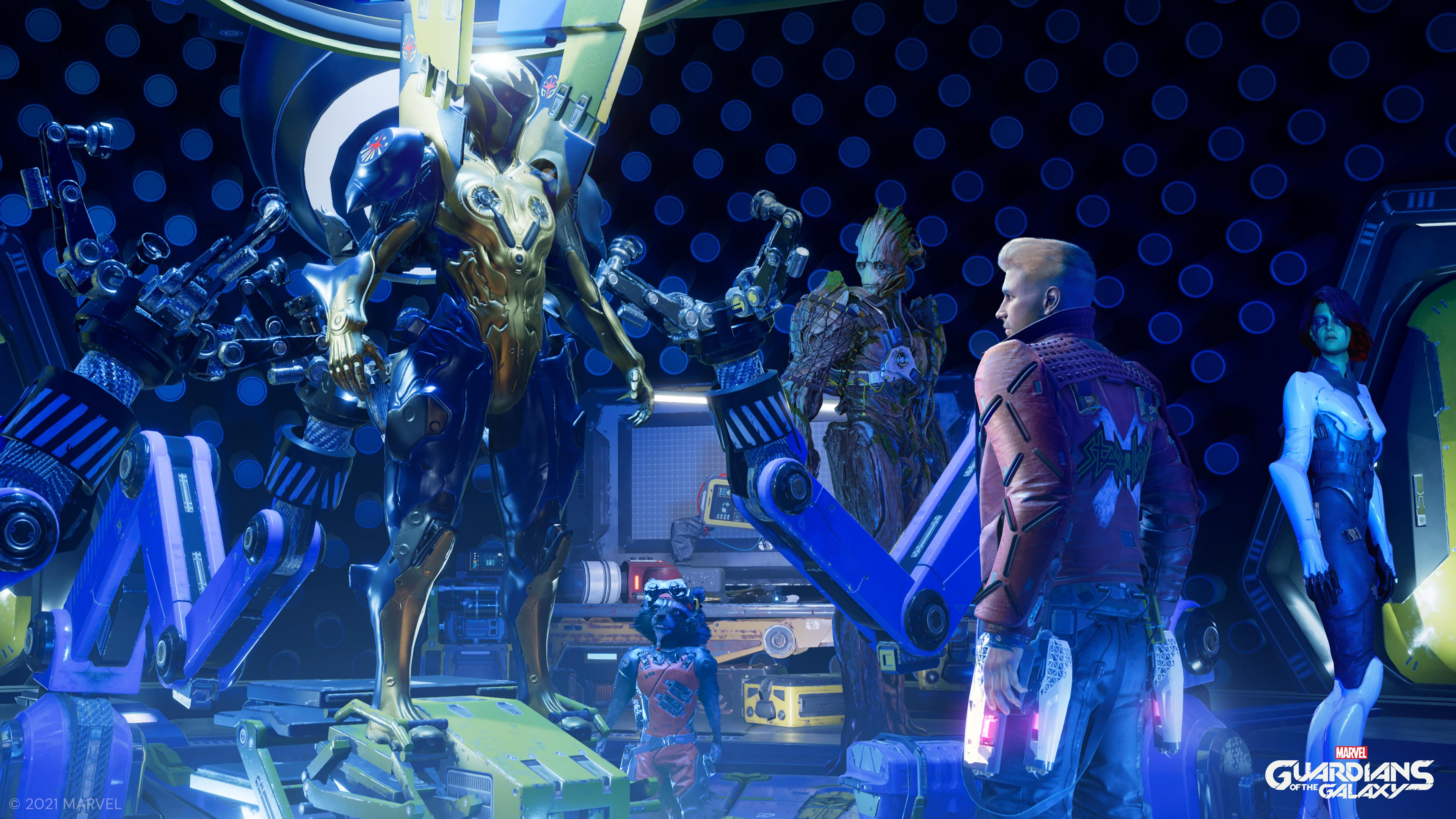 Les Gardiens de la Galaxie découvrent une armure.