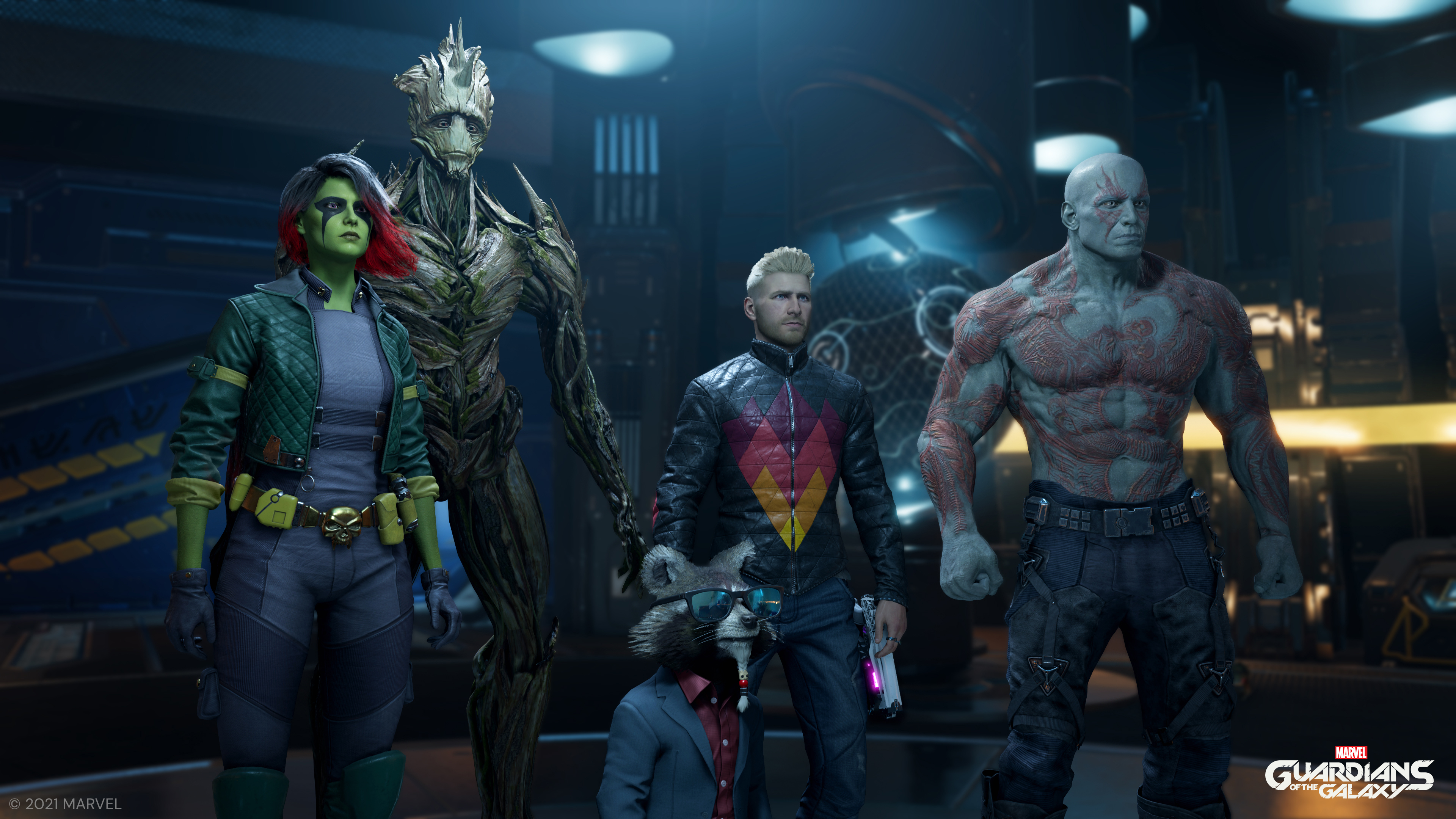 Les Gardiens de la Galaxie avec des tenues alternatives.