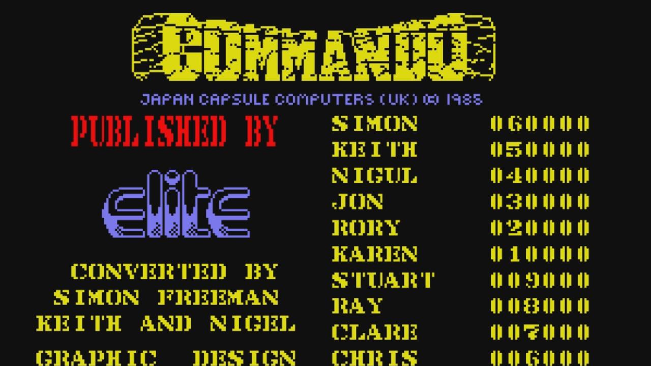 Commando de Capcom : toutes les conversions Micros et Consoles.